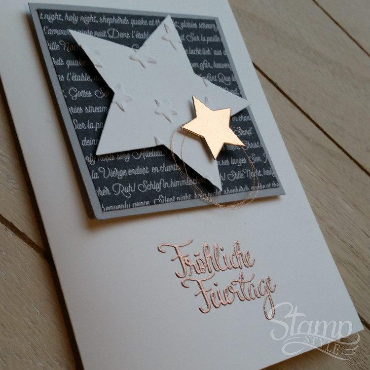 Edle Weihnachtskarten Basteln.Embossing Seite 2 Stamp Style